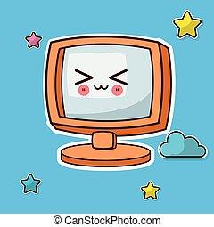 kawaii, οθόνη , ηλεκτρονικός εγκέφαλος άγαλμα