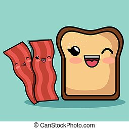 kawaii, πρωινό , χαρακτήρας , ρυθμός , συστατικό