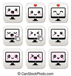 kawaii, χαριτωμένος , ηλεκτρονικός υπολογιστής , γιαπωνέζοs