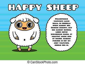 kawaii, カード, ∥で∥, sheep, 特徴