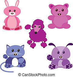 kawaii animals - Is a EPS Illustrator file