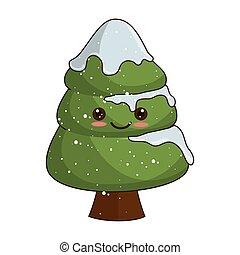 kawaii, arbre, noël