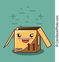 kawaii box icon