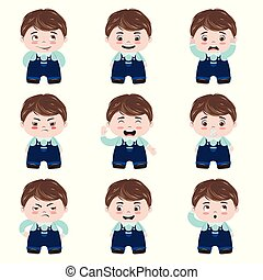 Kawaii boy emotions