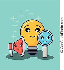 kawaii bulb light design
