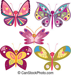 kawaii butterflies - Is a EPS Illustrator file