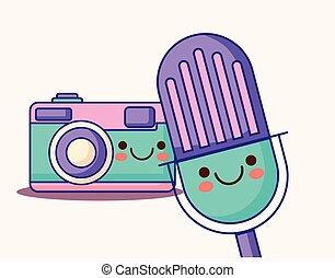 kawaii camera and microphone - kawaii microphone and camera...