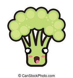 kawaii cartoon broccoli
