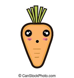 kawaii cartoon carrot
