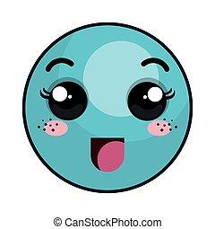 kawaii cartoon emoticon