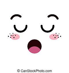 kawaii  cartoon face