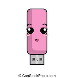 kawaii cartoon flash drive - usb flash drive. kawaii cartoon...