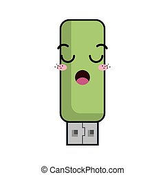 kawaii cartoon flash drive