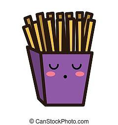kawaii cartoon french fries