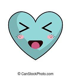 kawaii cartoon heart