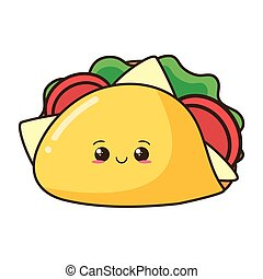 Cartoon Cute Taco Cute Cartoon Mexican Tacos In Sunglasses