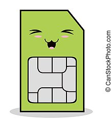 Kawaii cartoon technology design. Tablet laptop kawaii ...