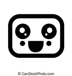 Kawaii cute face icon