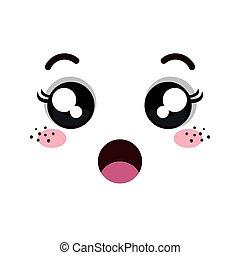 kawaii, emoticon, caricatura