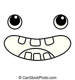 kawaii face cartoon