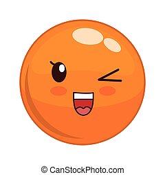 Kawaii face icon. Cartoon face design. Vector graphic
