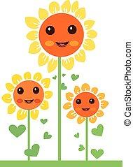 kawaii flowers 2 - Is a EPS Illustrator file