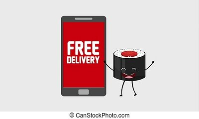 kawaii food online - kawaii sushi smartphone free delivery...