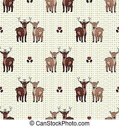 Kawaii forest deer love vector illustration. Stag deer with ...