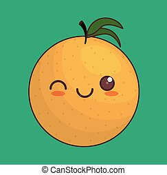 kawaii fruit icon
