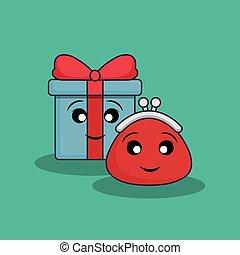 kawaii gift box and
