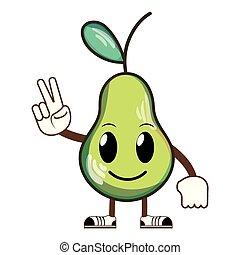 kawaii happy delicious pear fruit