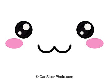 kawaii happy face design