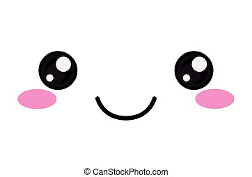 kawaii happy face design