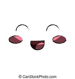 kawaii happy face icon