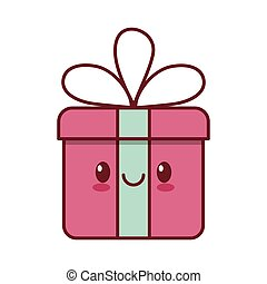 kawaii love gift box ribbon valentine