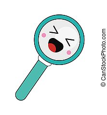 kawaii magnifying glass icon