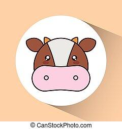 Kawaii Mignon Caractère Vache Kawaii Mignon Vache
