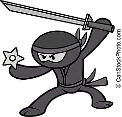 Kawaii Ninja Illustration