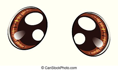 kawaii, olhos marrons