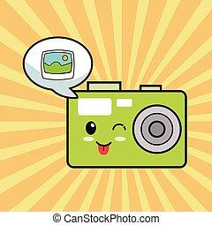kawaii photo camera comic
