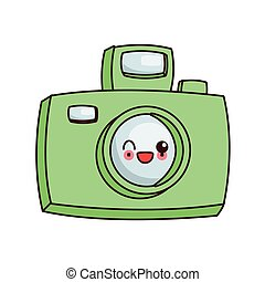 kawaii photographic camera icon