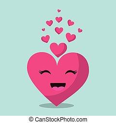 kawaii pink love heart romantic passion emotion