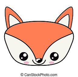 Kawaii Renard Conception Dessin Animé Kawaii Mignon