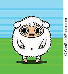 kawaii, sheep, 特徴