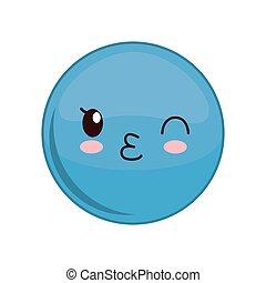 Kawaii sphere expression icon