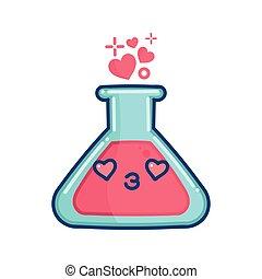 kawaii valentine love potion illustration