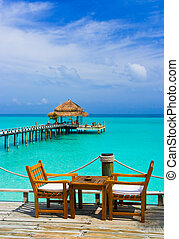 kawiarnia, plaża
