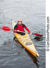 kayac, feliz, hombre