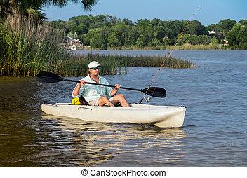 kayak, 人捕魚