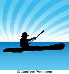 Kayak - An image of a person in a kayak.